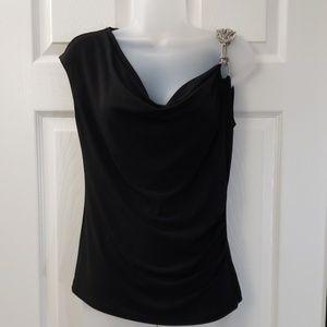 Cache | Off the Shoulder Blouse | Black | Size S